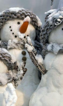19530 скачать обои Праздники, Зима, Новый Год (New Year), Игрушки, Рождество (Christmas, Xmas), Снеговики - заставки и картинки бесплатно