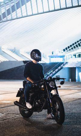 97935 télécharger le fond d'écran Moto, Motocycliste, Motocyclette, Casque, Phare - économiseurs d'écran et images gratuitement