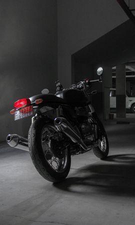 145766 télécharger le fond d'écran Moto, Royal Enfield Continental Gt 650, Royal Enfield, Enfield Royal, Motocyclette, Bicyclette, Vélo, Le Noir, Vue Arrière - économiseurs d'écran et images gratuitement