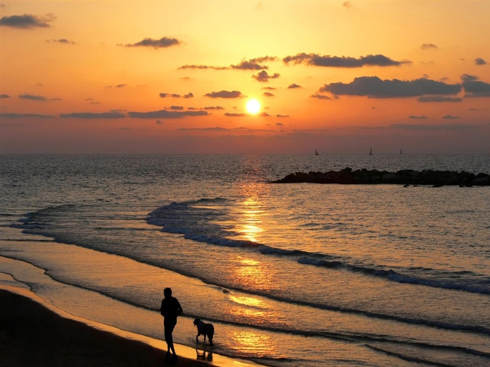 4076 скачать обои Пейзаж, Вода, Закат, Небо, Море, Солнце - заставки и картинки бесплатно