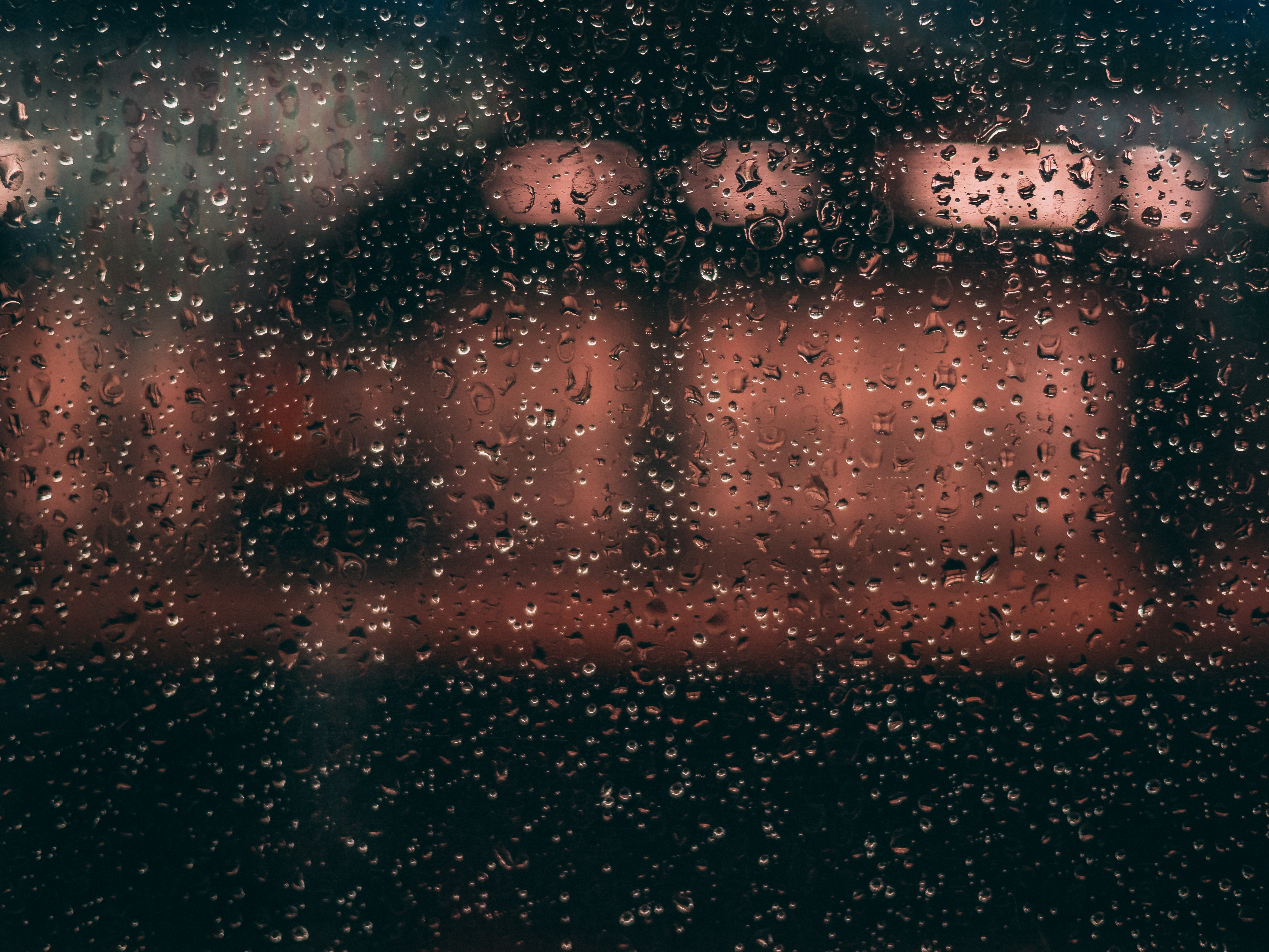 61042 download wallpaper Macro, Drops, Glass, Rain, Moisture screensavers and pictures for free