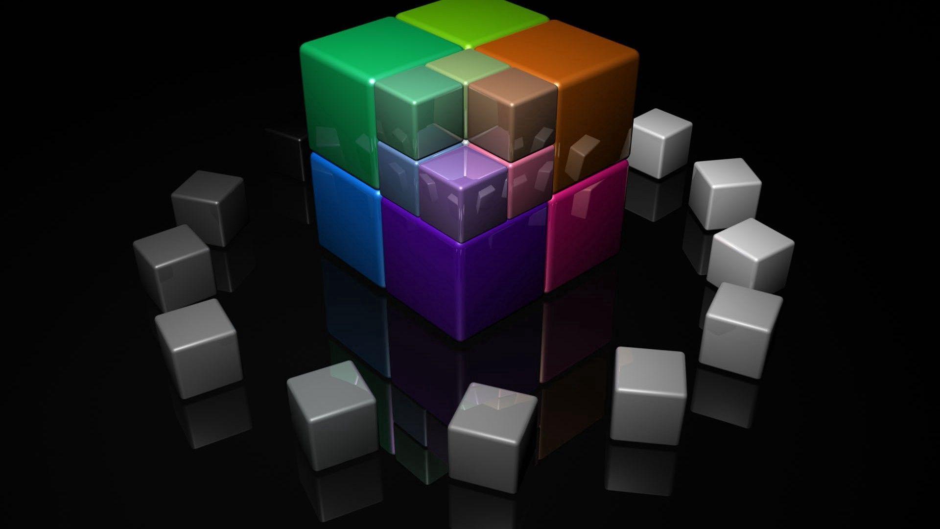 95209 免費下載壁紙 3D, 立方体, 多彩多姿, 五颜六色, 明亮的, 明亮 屏保和圖片