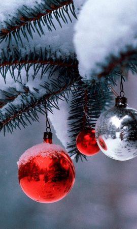 8734 descargar fondo de pantalla Vacaciones, Año Nuevo, Juguetes, Nieve, Navidad: protectores de pantalla e imágenes gratis