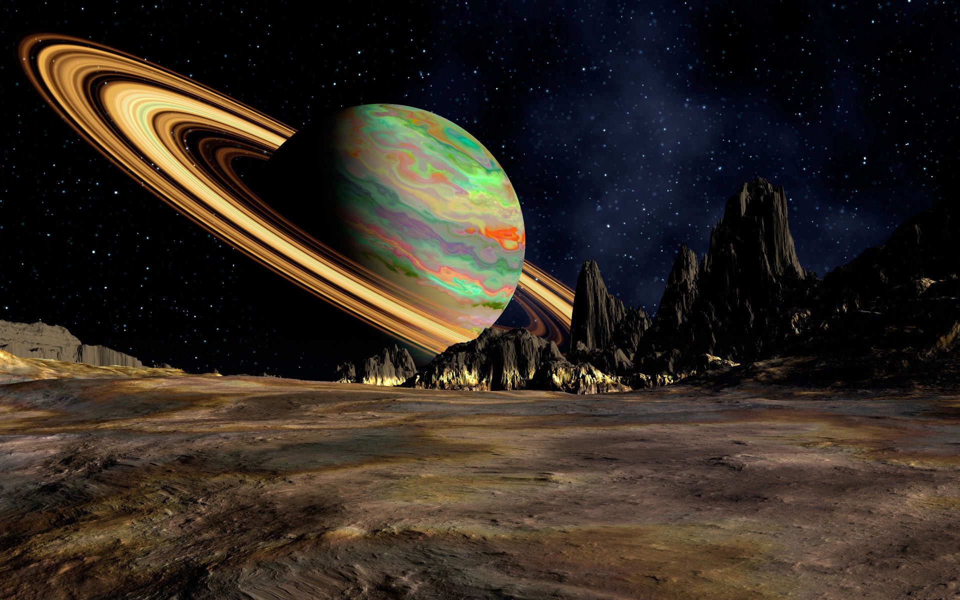152958 скачать обои 3D, Космос, Пространство, Планета, Кольцо, Сатурн - заставки и картинки бесплатно