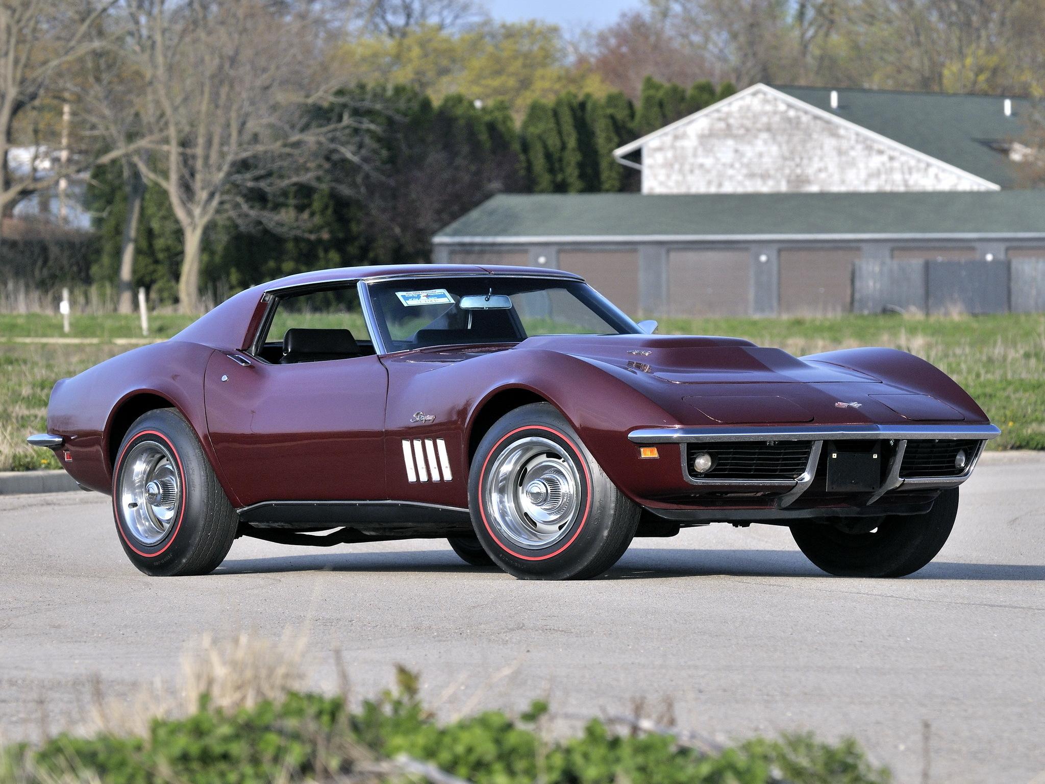 127543 скачать обои Тачки (Cars), Шевроле (Chevrolet), Corvette, Stingray, C3, 1969, L88 427 Coupe - заставки и картинки бесплатно