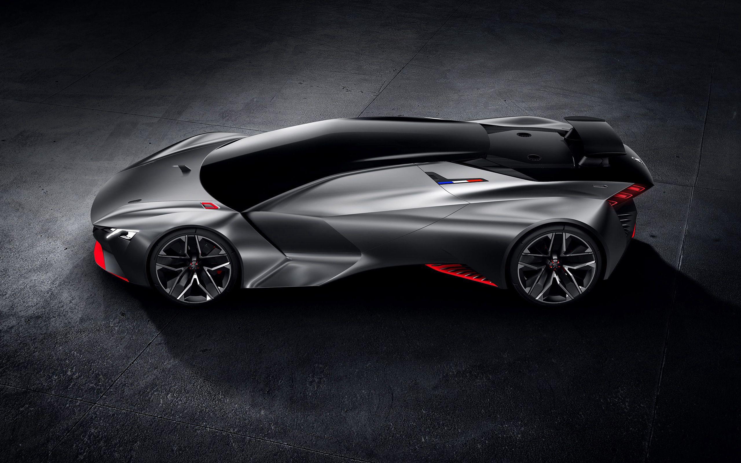 85027 скачать обои Пежо (Peugeot), Тачки (Cars), Черный, Вид Сбоку, Концепт, Vision, Gran Turismo - заставки и картинки бесплатно