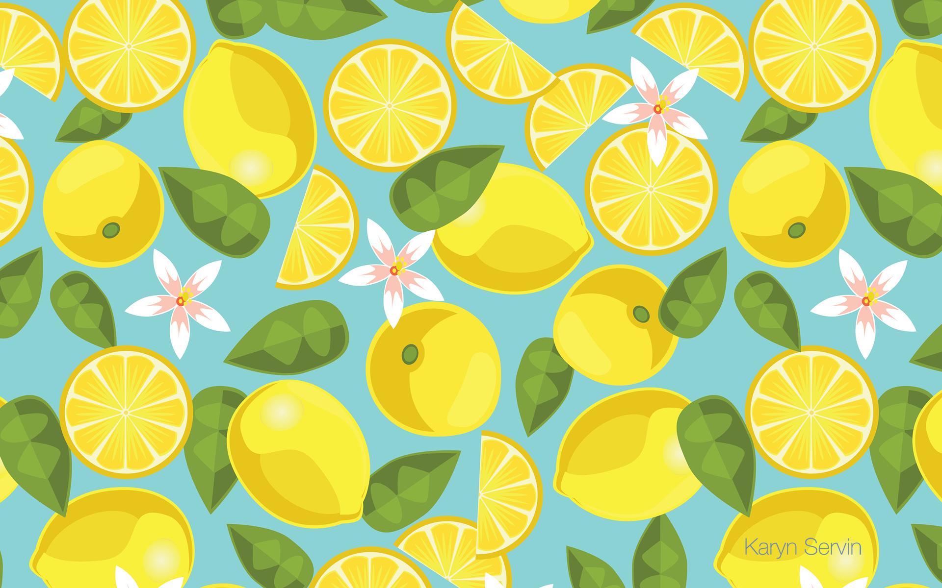 19420 скачать обои Рисунки, Растения, Фрукты, Фон, Лимоны - заставки и картинки бесплатно