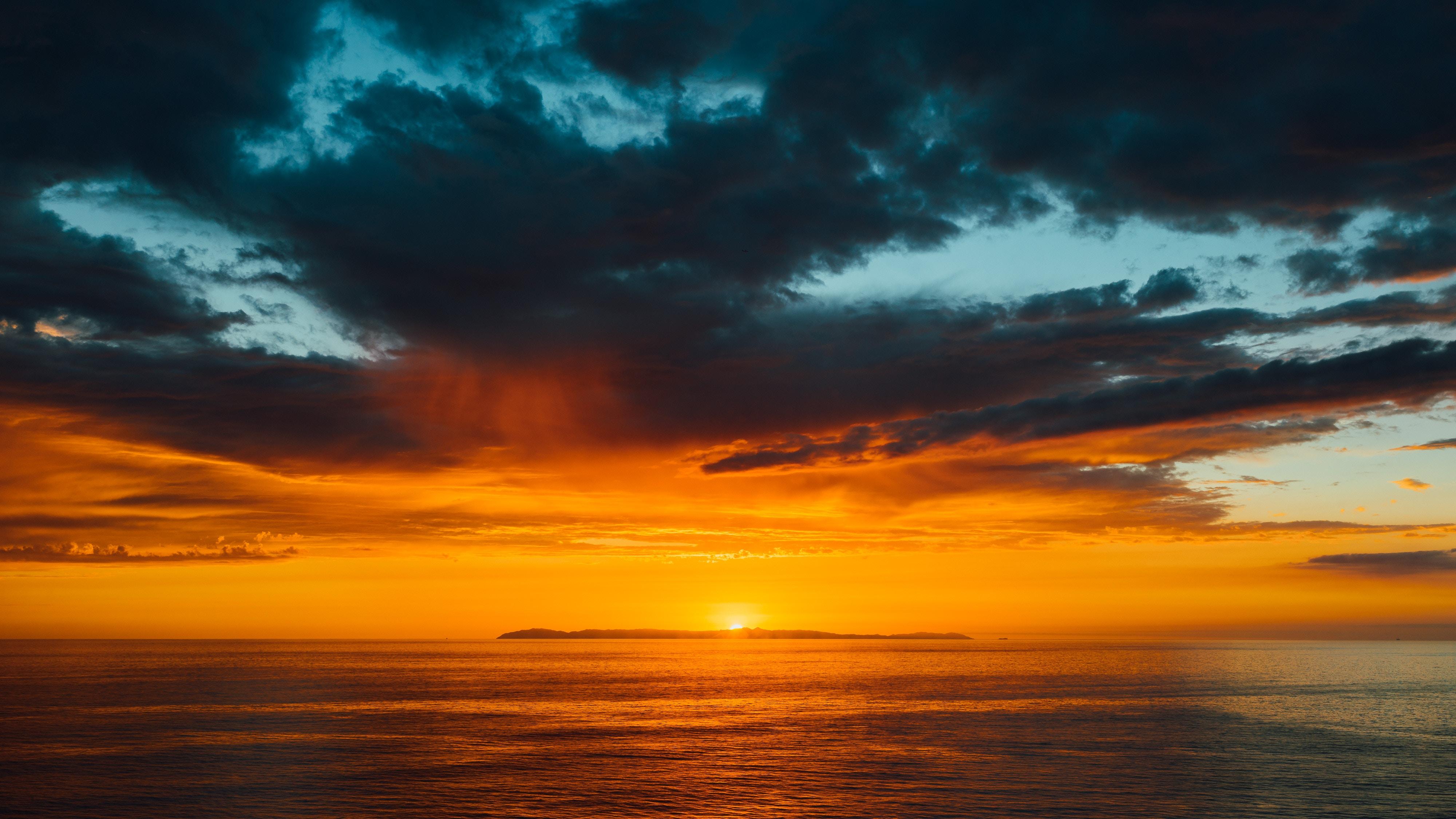 116890 Protetores de tela e papéis de parede Escuro em seu telefone. Baixe Natureza, Pôr Do Sol, Céu, Mar, Sol, Nuvens, Horizonte, Escuro fotos gratuitamente