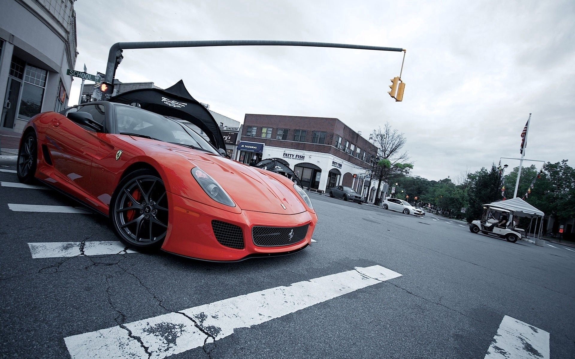 77915 download wallpaper Cars, Ferrari, Auto, City, Stylish screensavers and pictures for free
