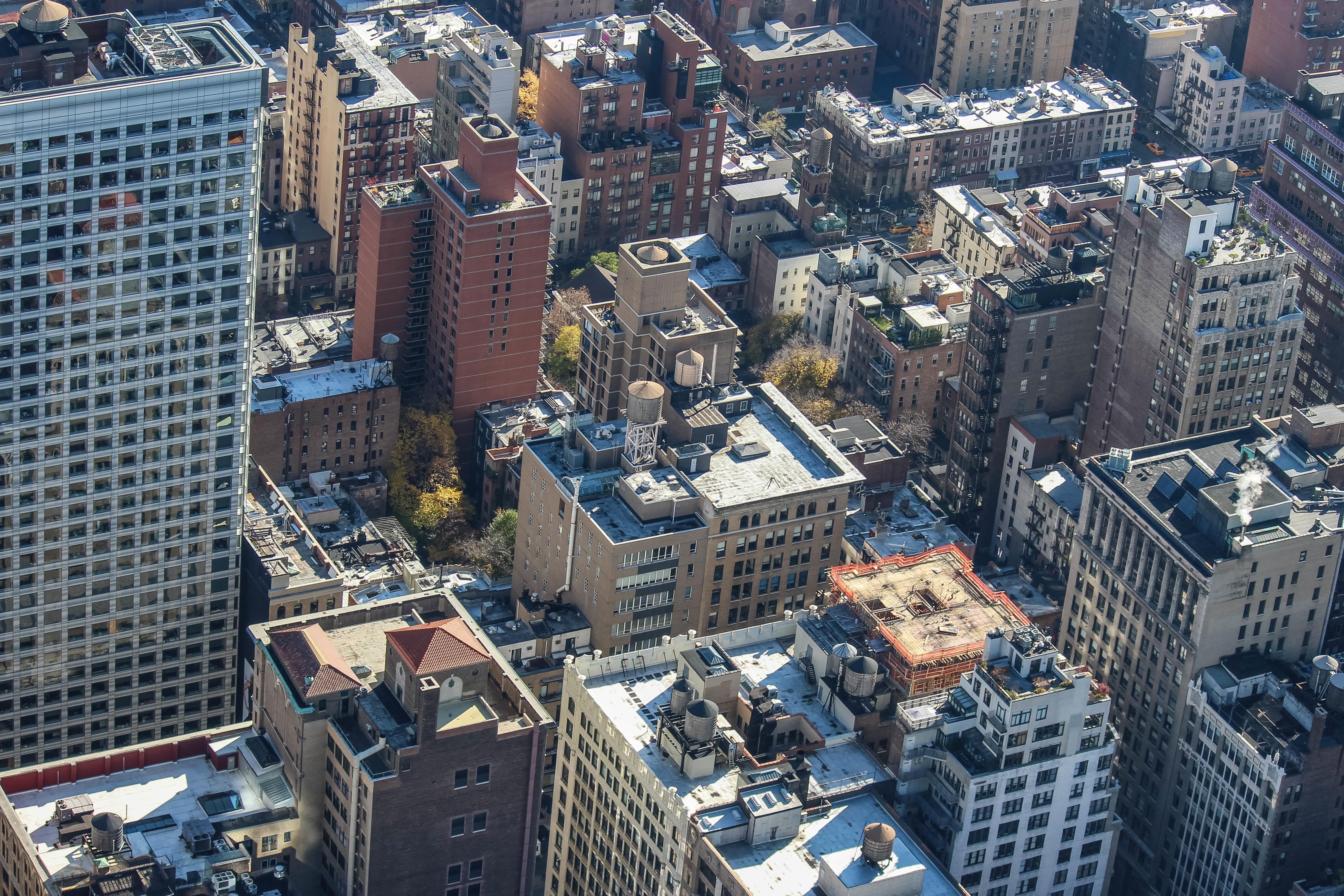 59401 免費下載壁紙 建造, 建筑物, 城市, 摩天大楼, 从上面看, 顶视图 屏保和圖片