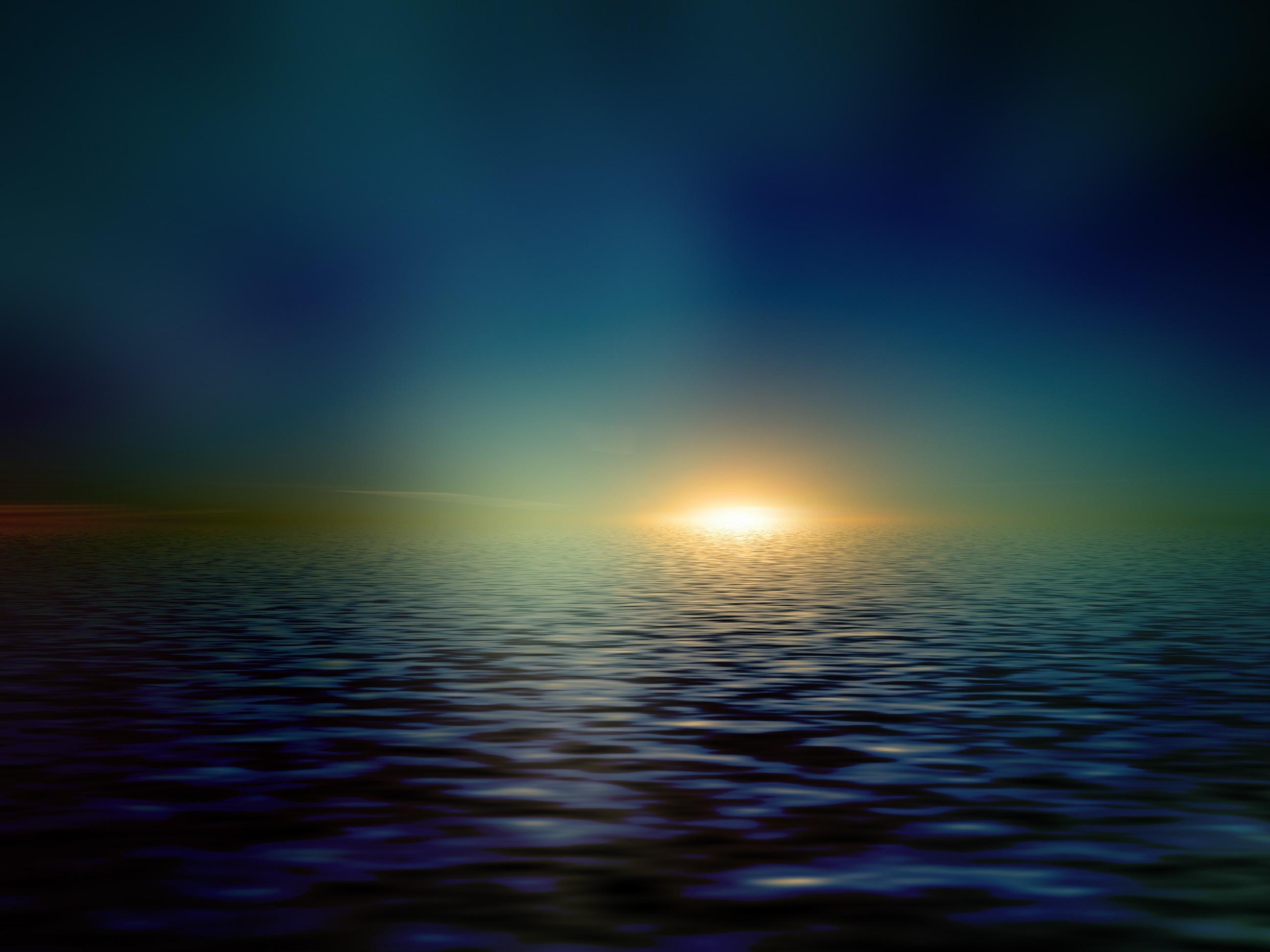 122473 скачать обои Минимализм, Море, Горизонт, Блеск, Солнечный Свет - заставки и картинки бесплатно