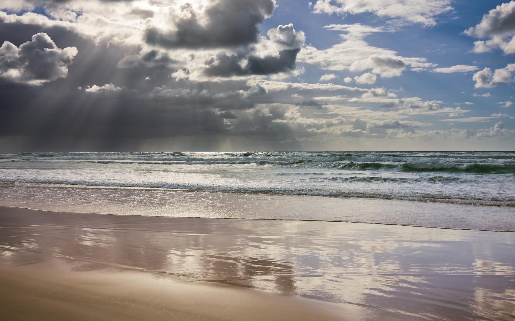 28644 скачать обои Пейзаж, Море, Облака, Пляж - заставки и картинки бесплатно
