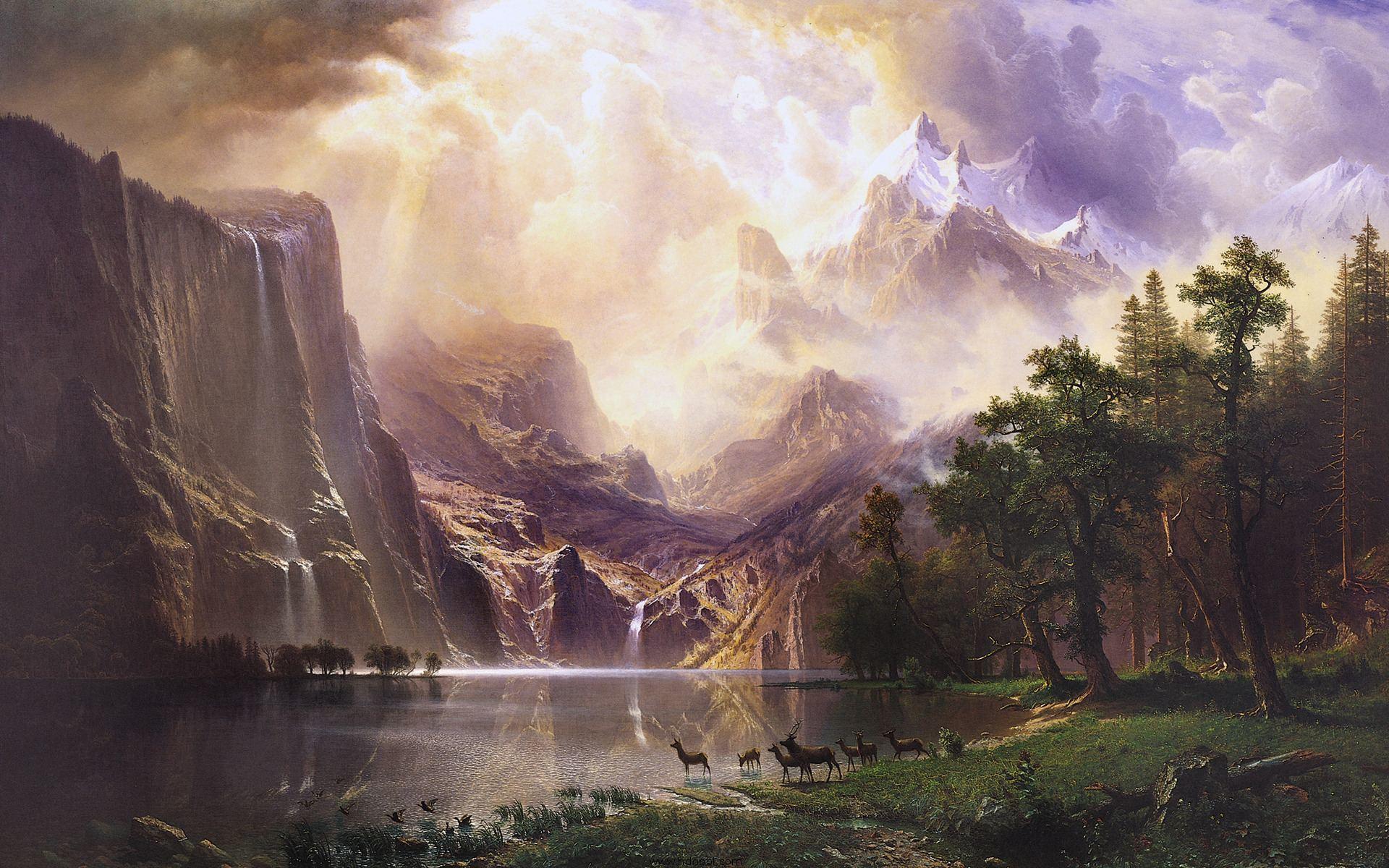 41391 télécharger le fond d'écran Paysage, Fantaisie, Montagnes, Lacs - économiseurs d'écran et images gratuitement