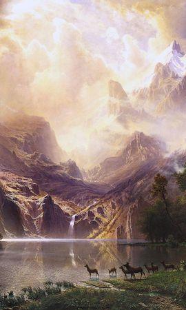 41391 скачать обои Пейзаж, Фэнтези, Горы, Озера - заставки и картинки бесплатно