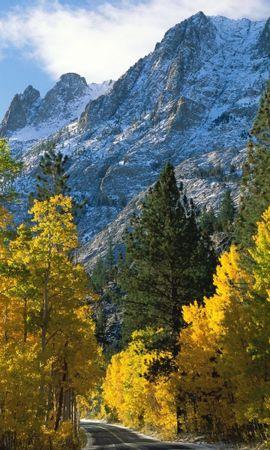 23423 télécharger le fond d'écran Paysage, Arbres, Montagnes, Automne - économiseurs d'écran et images gratuitement