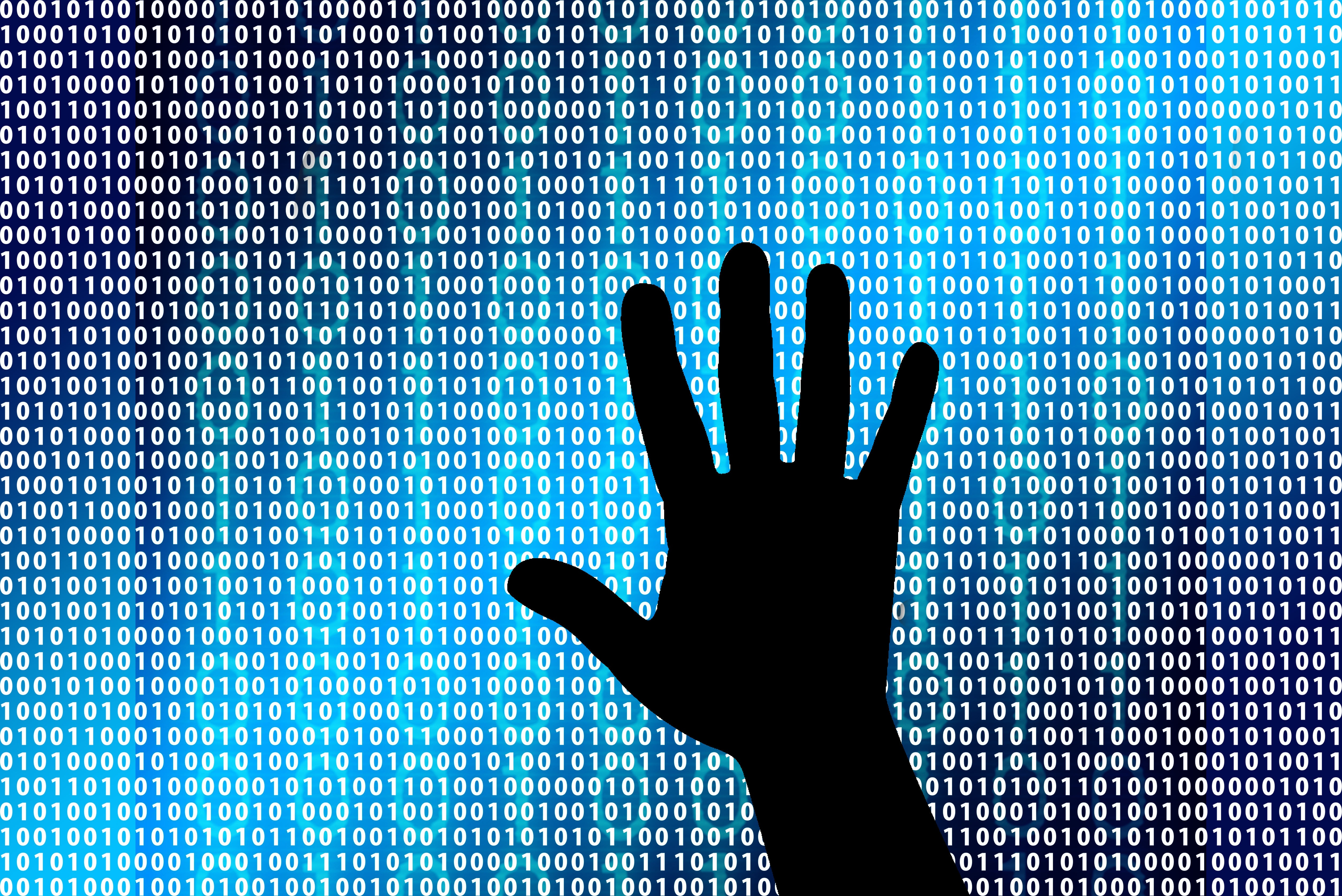 127614 Screensavers and Wallpapers Binary Code for phone. Download Silhouette, Hand, Miscellanea, Miscellaneous, Binary Code pictures for free