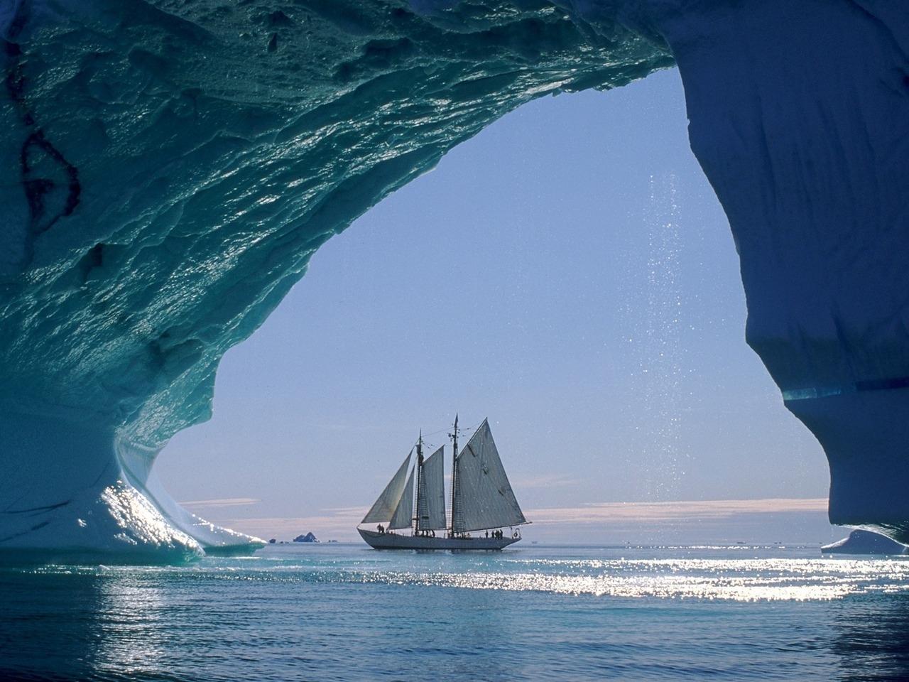 23764 скачать обои Транспорт, Пейзаж, Корабли, Море, Лед - заставки и картинки бесплатно