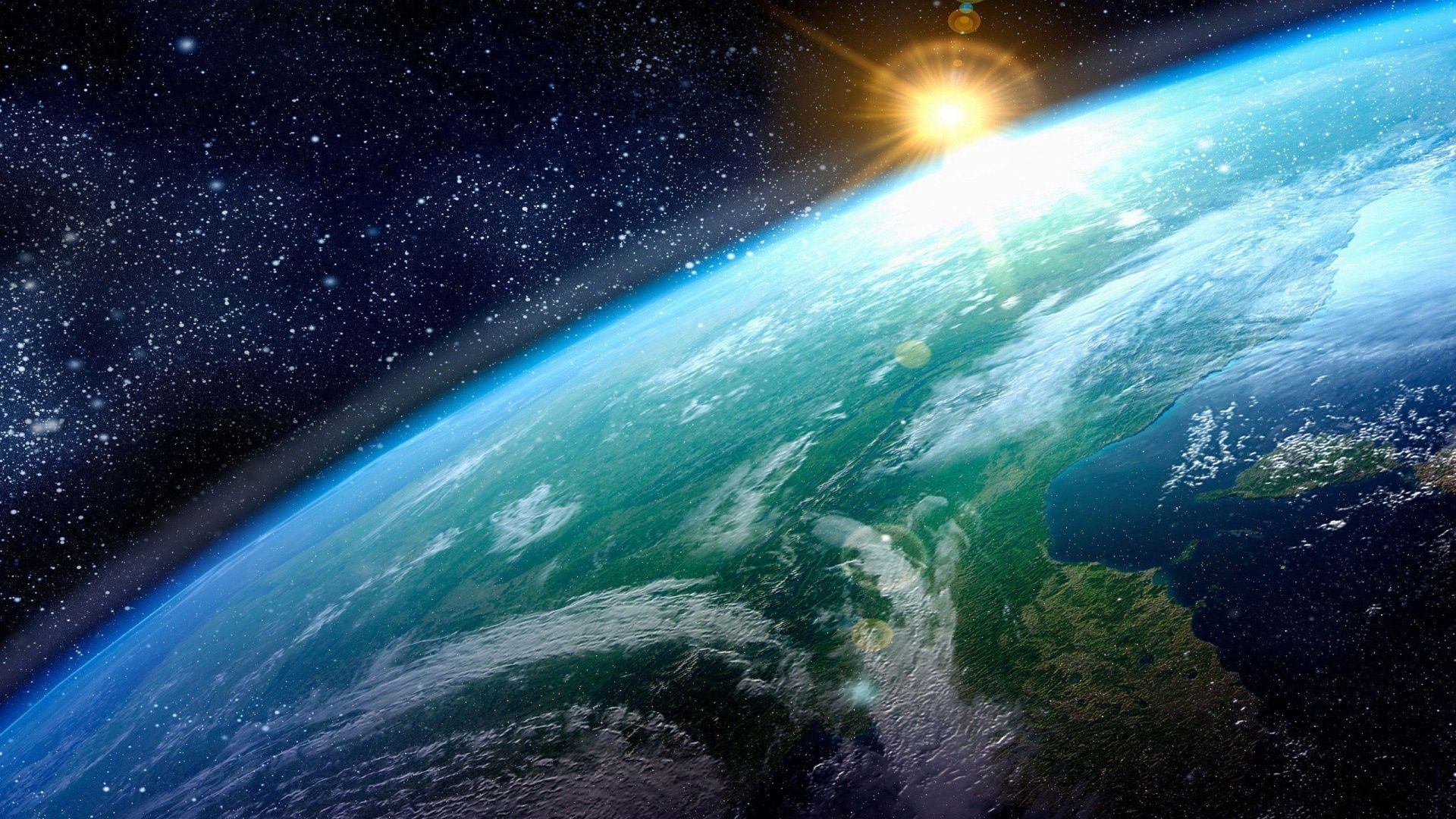 109213 download wallpaper Universe, Sun, Stars, Surface, Land, Earth, Planet screensavers and pictures for free