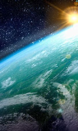 109213 Заставки и Обои Солнце на телефон. Скачать Земля, Планета, Поверхность, Звезды, Солнце, Космос картинки бесплатно