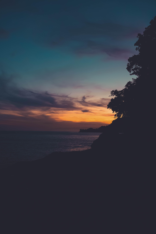 109395 скачать обои Природа, Закат, Горизонт, Темный - заставки и картинки бесплатно