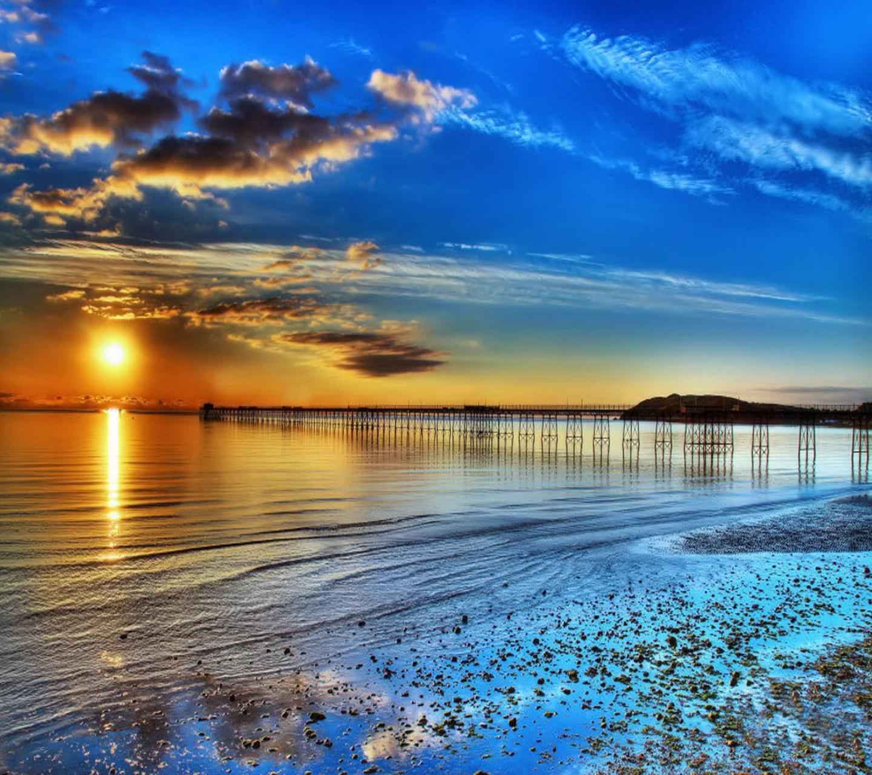 21073 скачать обои Пейзаж, Закат, Море, Пляж - заставки и картинки бесплатно