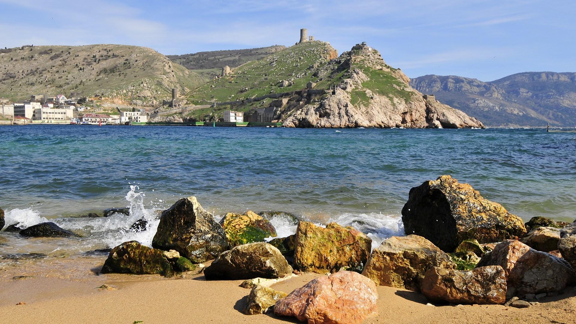 26304 免費下載壁紙 景观, 石, 山, 海, 海滩 屏保和圖片