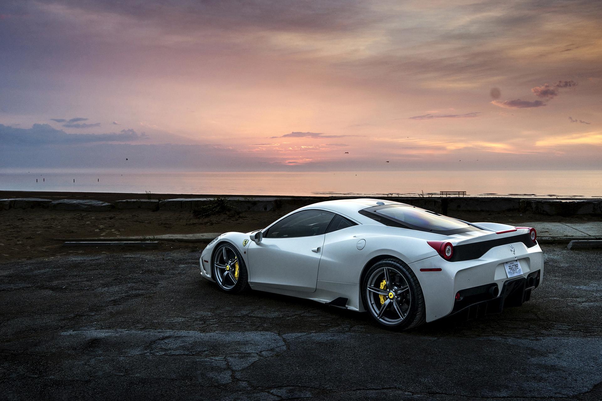96817 papel de parede 480x800 em seu telefone gratuitamente, baixe imagens Ferrari, Carros, Vista Lateral, 458 480x800 em seu celular