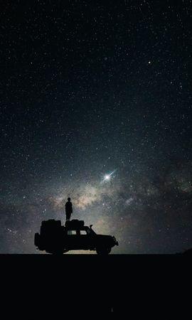 58160壁紙のダウンロードスカイ, 宇宙, 車, スター-スクリーンセーバーと写真を無料で