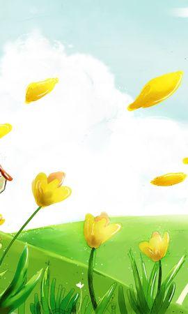 50340 скачать обои Растения, Пейзаж, Природа, Цветы, Рисунки - заставки и картинки бесплатно