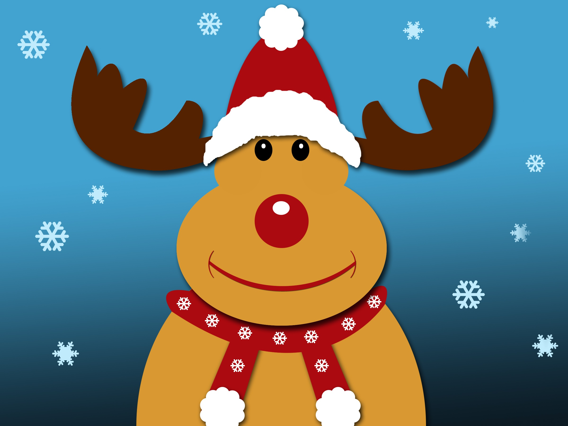 57608 download wallpaper Holidays, Rudolf, Rudolph, Deer, Christmas, New Year screensavers and pictures for free
