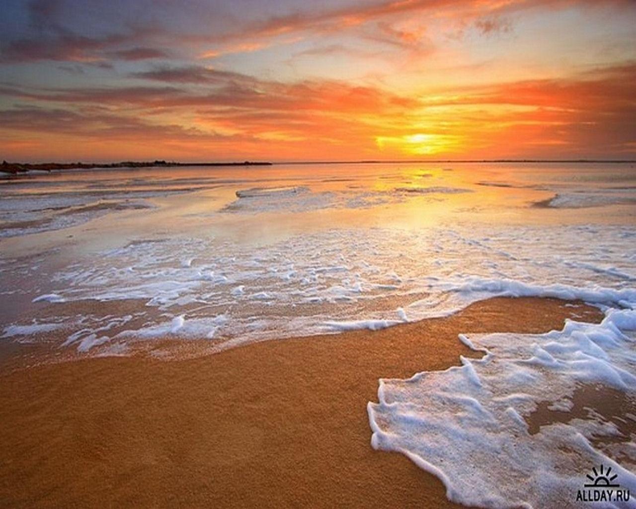 576壁紙のダウンロード風景, 日没, スカイ, 海, ビーチ, オレンジ-スクリーンセーバーと写真を無料で