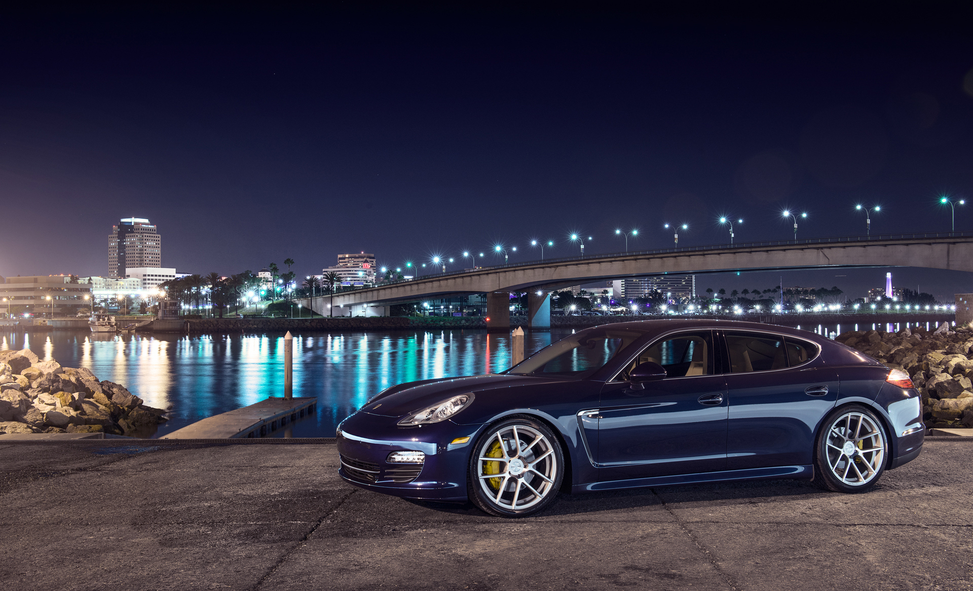 84002 Screensavers and Wallpapers Porsche for phone. Download Porsche, Night, Cars, City, Side View, Panamera S pictures for free