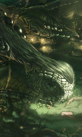 122683 baixar papel de parede Fantasia, O Dragão, Dragão, Menina, Garota, Floresta, Arte - protetores de tela e imagens gratuitamente