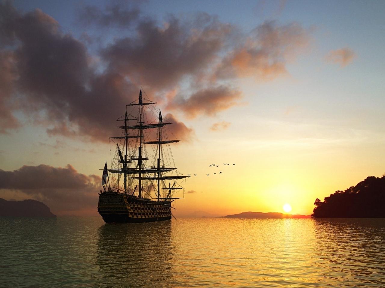 47988 скачать обои Транспорт, Пейзаж, Корабли, Море - заставки и картинки бесплатно