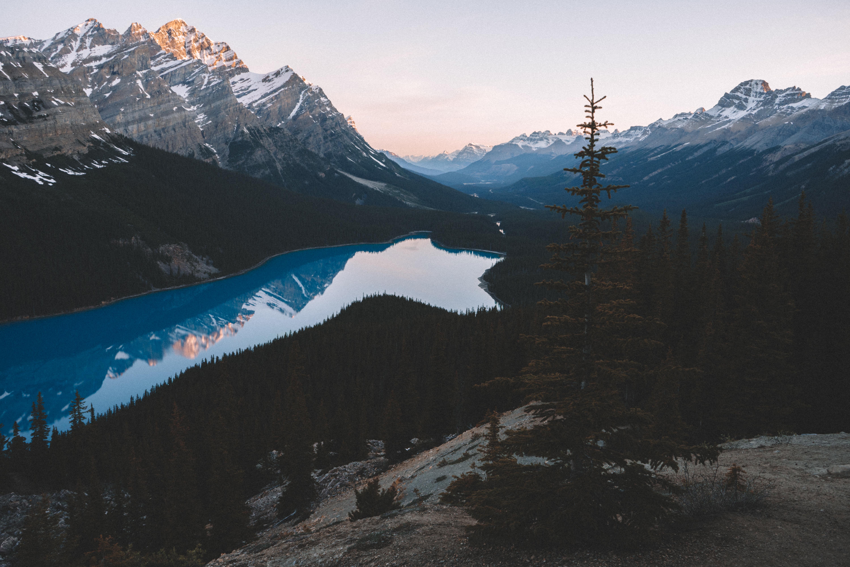 100126 Hintergrundbild 240x400 kostenlos auf deinem Handy, lade Bilder Natur, Bäume, Sky, Mountains, See 240x400 auf dein Handy herunter