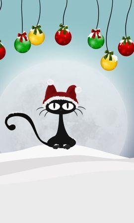 10362 descargar fondo de pantalla Vacaciones, Gatos, Año Nuevo, Navidad, Imágenes: protectores de pantalla e imágenes gratis