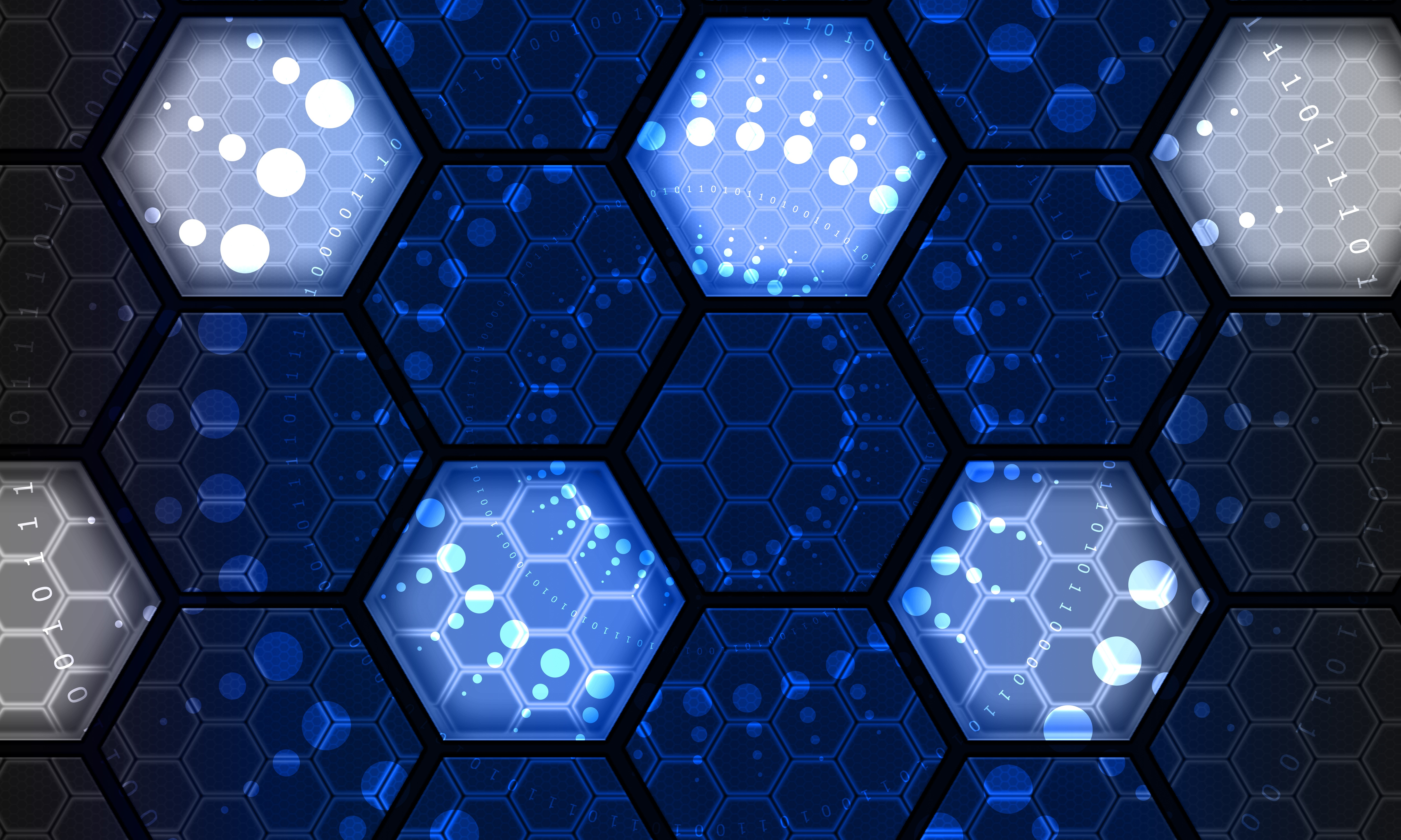 61973 download wallpaper Abstract, Hexagons, Hexagonals, Numbers, Net, Technologies, Technology screensavers and pictures for free