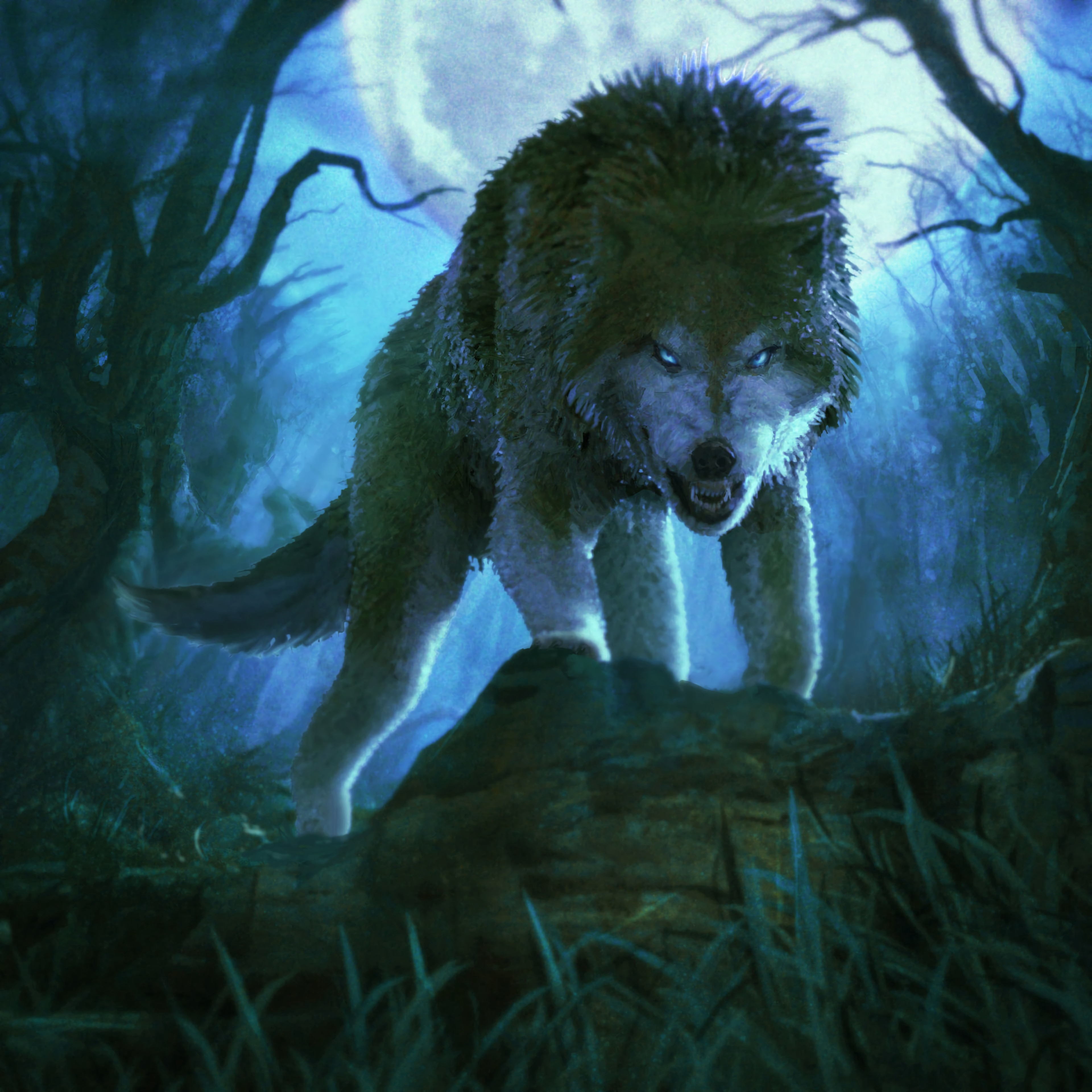 151615 Screensavers and Wallpapers Grin for phone. Download Art, Grin, Predator, Wolf, Aggressive pictures for free