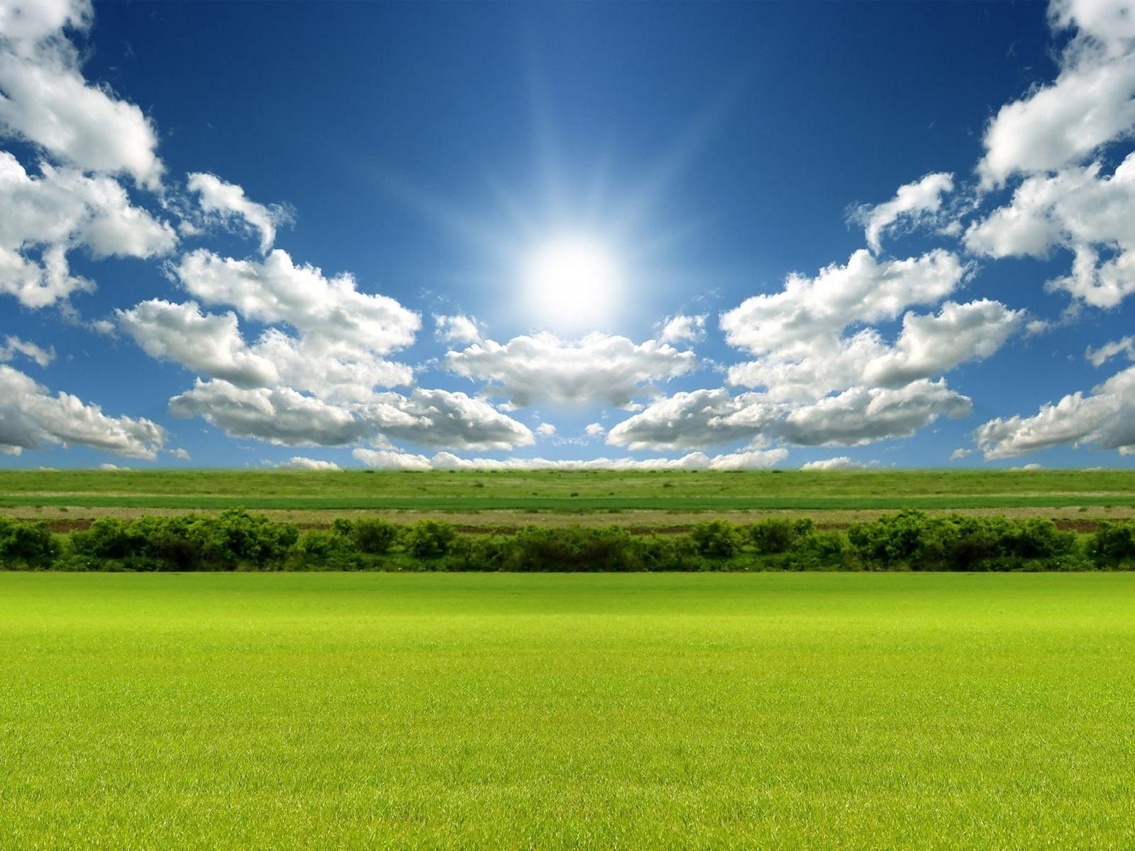 Baixe 20410: Paisagem, Grama, Céu, Nuvens papel de parede da área de trabalho gratuitamente