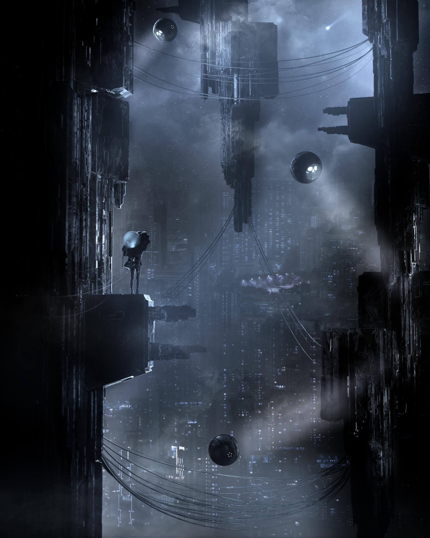 155847 скачать обои Темные, Город, Футуризм, Киберпанк, Sci-Fi, Темный - заставки и картинки бесплатно