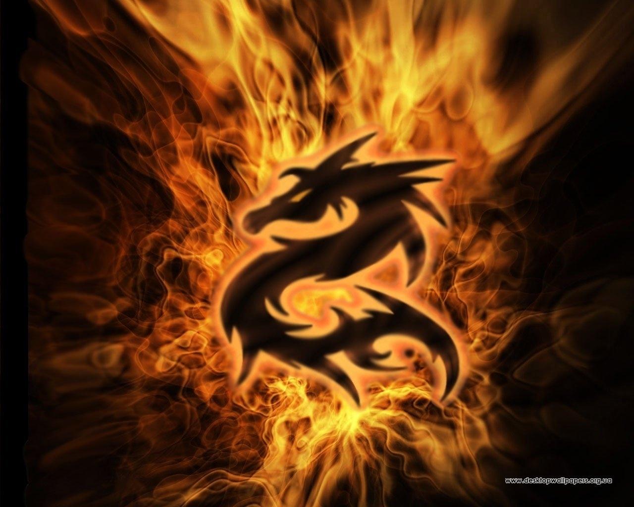 7782 Hintergrundbild herunterladen Hintergrund, Logos, Dragons, Feuer - Bildschirmschoner und Bilder kostenlos
