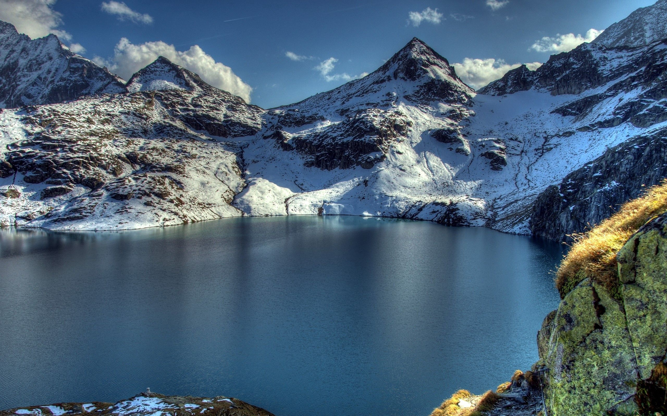 111710 免費下載壁紙 性质, 湖, 湖景, 最高额, 顶点, 雪, 山 屏保和圖片