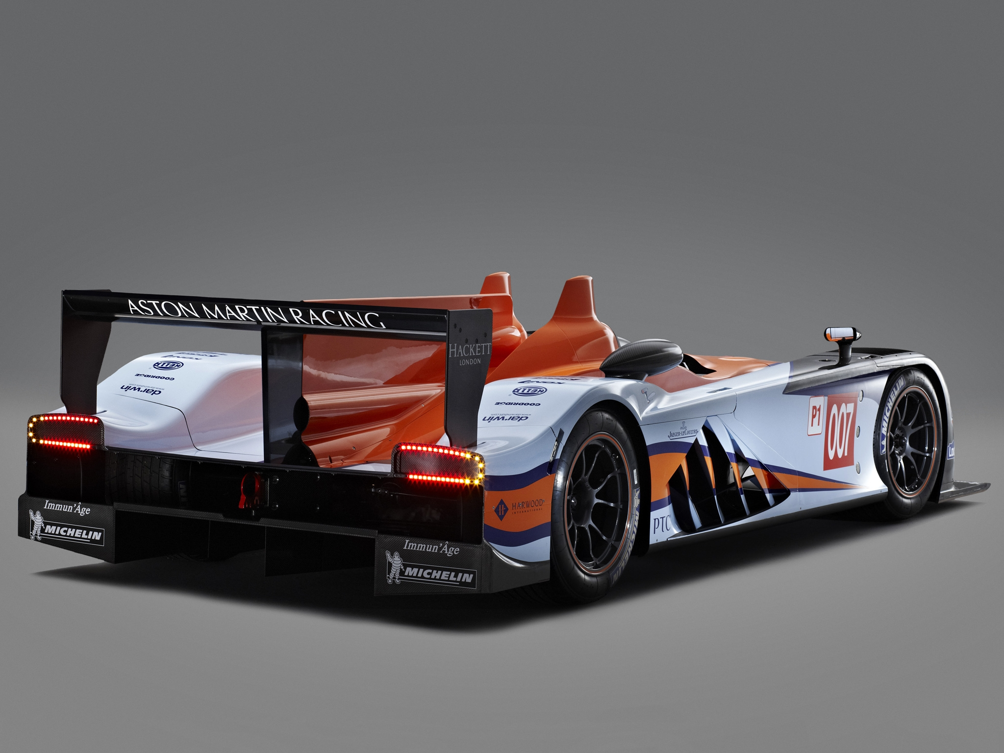128473 free wallpaper 1125x2436 for phone, download images Auto, Sports, Aston Martin, Cars, Back View, Rear View, 2011, Lmp1, Amr-One 1125x2436 for mobile