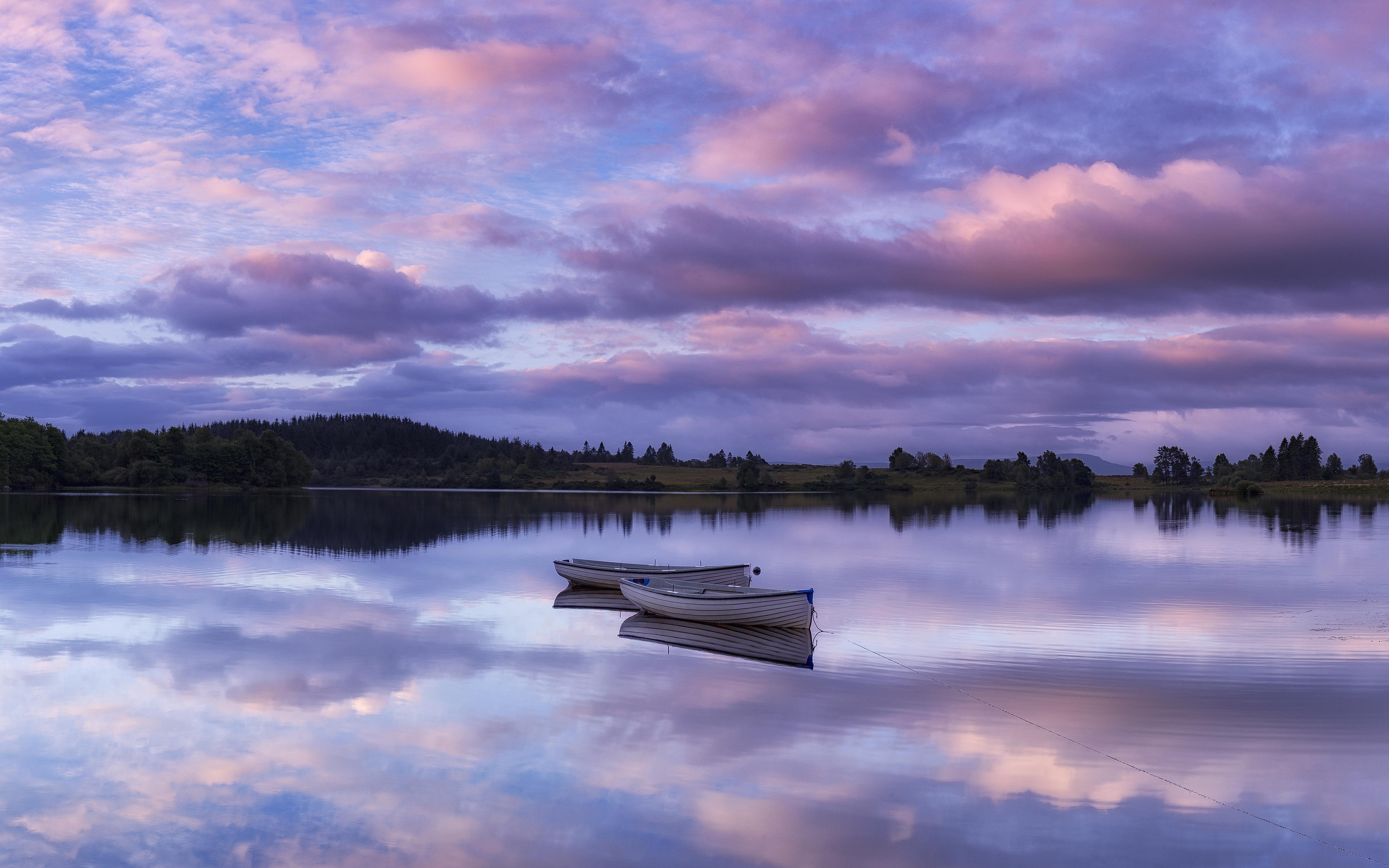 71603 Заставки и Обои Лодки на телефон. Скачать Природа, Озеро, Лодки, Горизонт, Восход, Рассвет, Лох-Ломонд, Троссахс, Шотландия картинки бесплатно