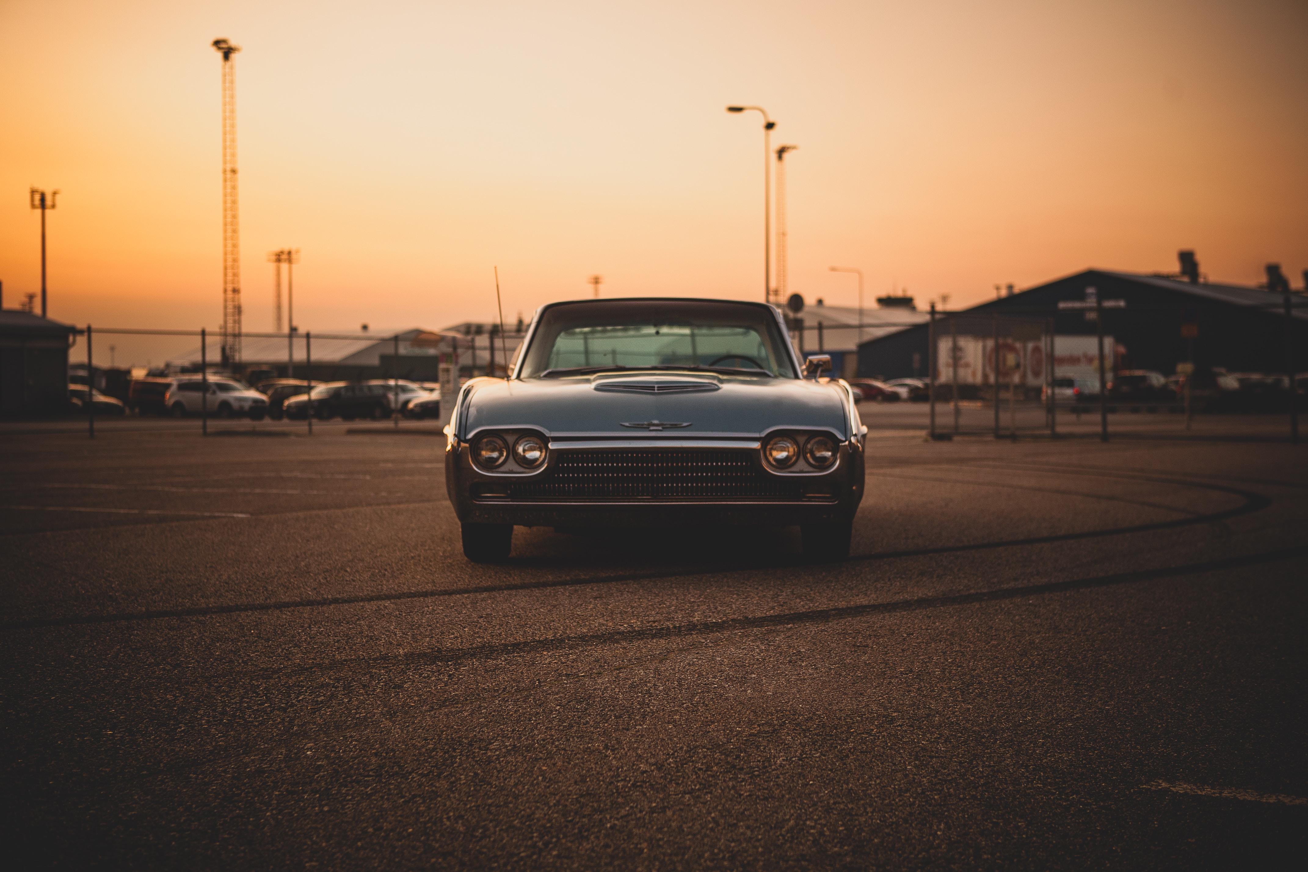 50459 Hintergrundbild herunterladen Ford, Auto, Cars, Vorderansicht, Frontansicht, Ford Thunderbird 63, Maschine, Alt, Jahrgang, Vintage - Bildschirmschoner und Bilder kostenlos
