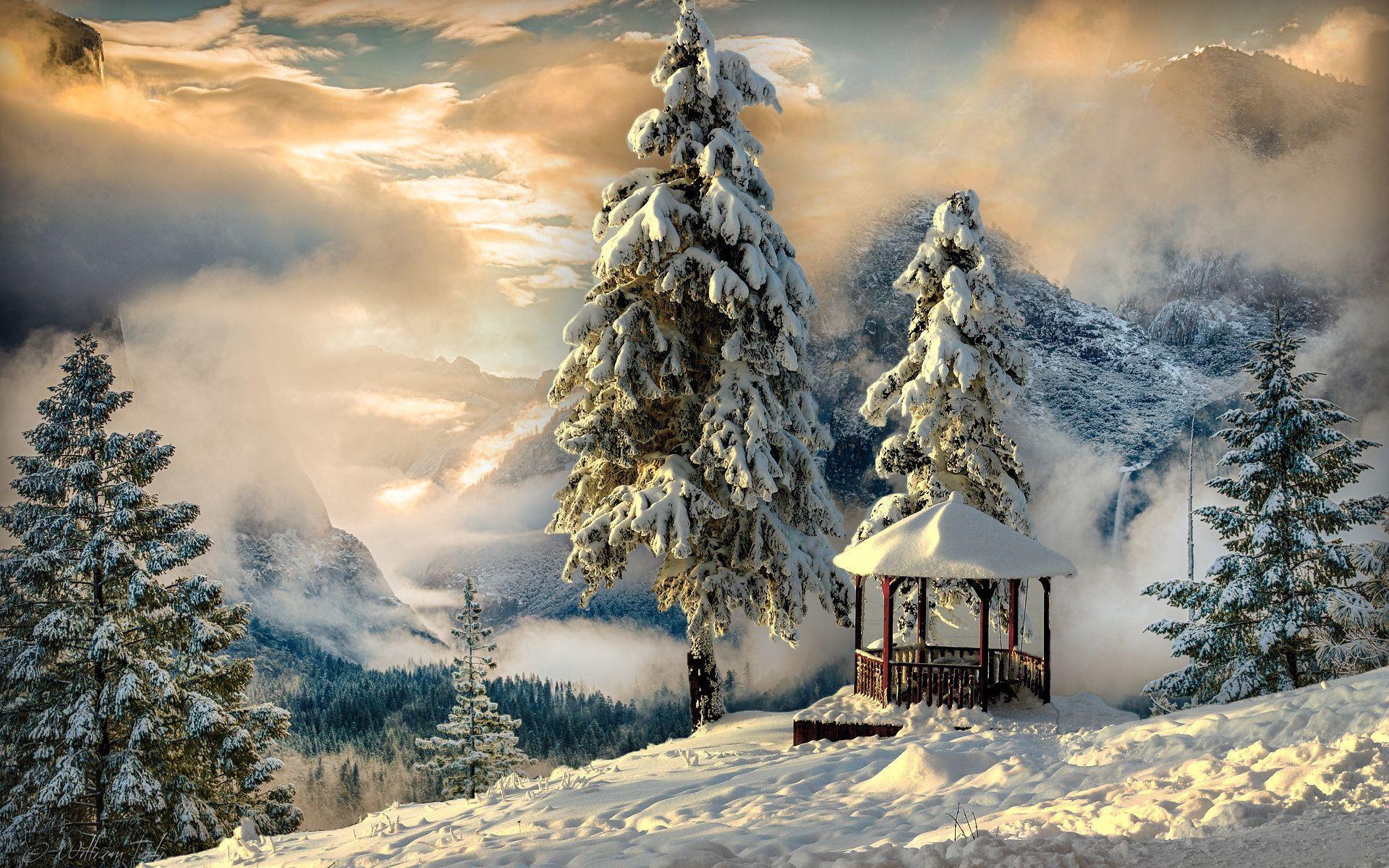 58322 Protetores de tela e papéis de parede Montanhas em seu telefone. Baixe Inverno, Natureza, Montanhas, Neve, Névoa, Nevoeiro, Alcova, Bower fotos gratuitamente