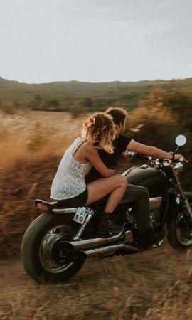 133477 скачать обои Пара, Мотоцикл, Любовь, Скорость - заставки и картинки бесплатно