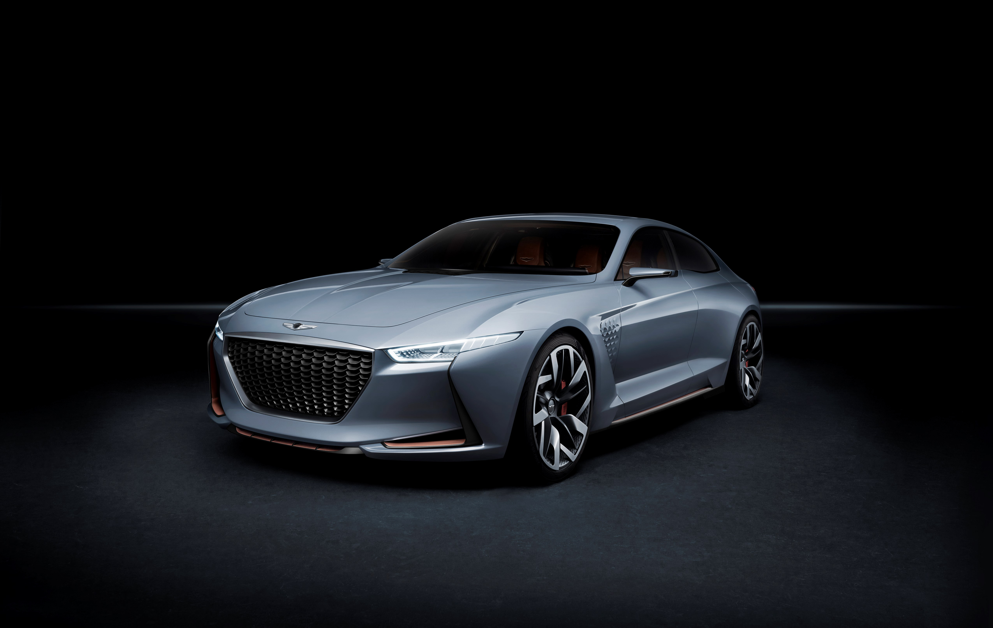 87475 download wallpaper Hyundai, Cars, Concept, Side View, Genesis screensavers and pictures for free