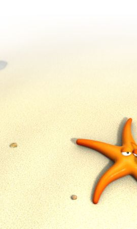 27087 download wallpaper Funny, Background, Beach, Sand, Starfish screensavers and pictures for free