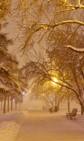 22026 descargar fondo de pantalla Paisaje, Invierno, Árboles, Carreteras, Nieve: protectores de pantalla e imágenes gratis